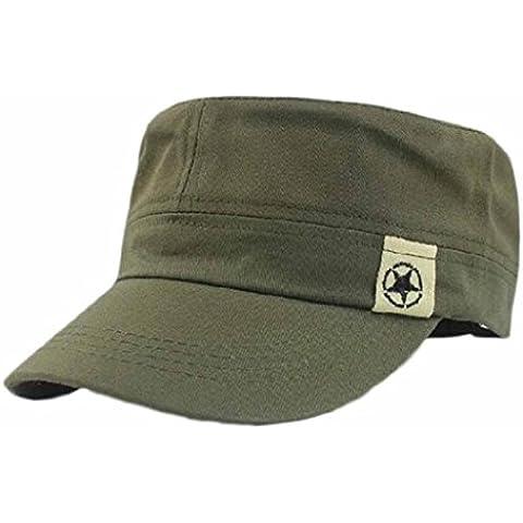 Gorras unisex Sannysis algodón de la motocicleta Cap, Sombrero militar y Bush Sombreros (Verde)