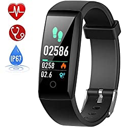 HETP Pulsera de Actividad Reloj Inteligente con Pulsómetro y Presión Arterial Relojes Deportivos GPS Impermeable IP67 Monitor de Ritmo Cardíaco Actividad Pulsera Mujer Hombre Reloj Fitness Podómetro