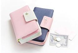 DAOKAI® Lange Ausführung Lady PU Leder Rosa Farbe Tasche Brieftasche Mit Zip Stil Hülle Geldbörse Purse Geldbeutel für Iphone5/4S Galaxy S2 S3