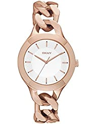 DKNY Damen-Armbanduhr Analog Quarz Edelstahl NY2218