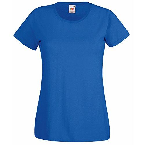 Fruit of the Loom - T-shirt -  Femme Bleu - bleu marine