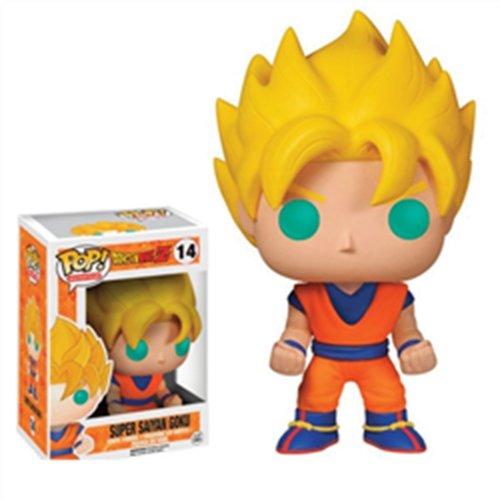 Funko - Figura con cabeza móvil Dragon Ball Z - Super Saiyan Goku