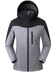 Eono Essentials, giacca da sci Orebro, da donna, colore mélange nero, taglia L