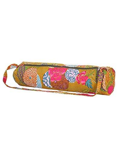 Attraente cotone Sling Bag Ricamato Elephant per le donne By Rajrang Olive Green & Dark Pink