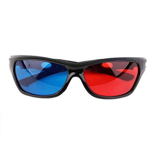 Preisvergleich Produktbild Masterein Black Frame Rot Blau 3D-Brille für Anaglyph Movie Game DVD Brillen