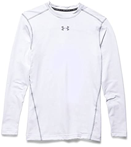 Under Armour UA CG ARMOUR CREW Chemise à manches longues Homme White FR : M (Taille Fabricant : MD)