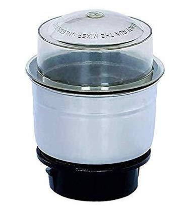 shiva marketers Steel Jar for 4 Teeth Coupler Mixer Grinders, Silver