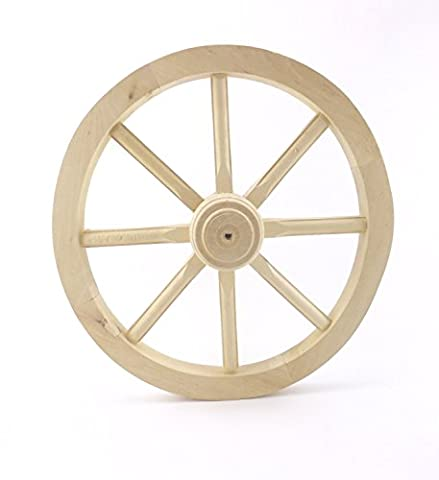 Cart Wheel Wagon Regular 50 Solid Plain Wood Vintage Style Garden Home Decoration Woodeeworld