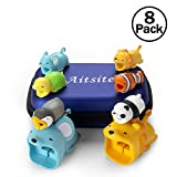 Aitsite Cable Protector Cute Animal Prime Cable Cord Saver Protector Mobile Phone Accessory (8-Piece, 2 big+6 small)