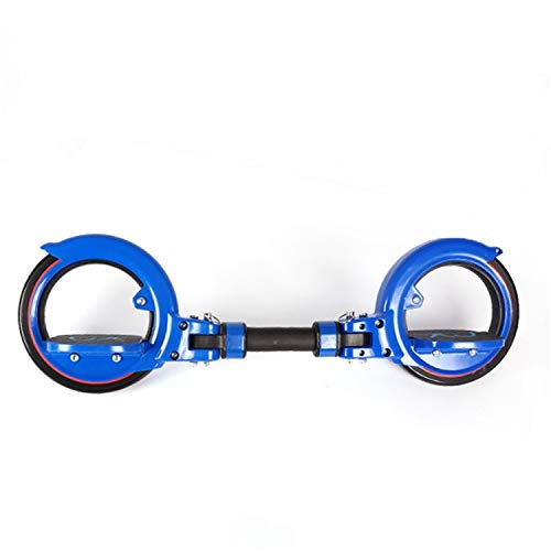TTYY Skateboard Adult Abnehmbare Flach Platte Schlange-förmige Vitality Brett Übung ABS Drift Brett Skateboard Sport Junge Blue