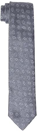 RENÉ LEZARD Herren Krawatte 4207KR70S6781939, Paisley, Gr. One size, Grau (graphite)