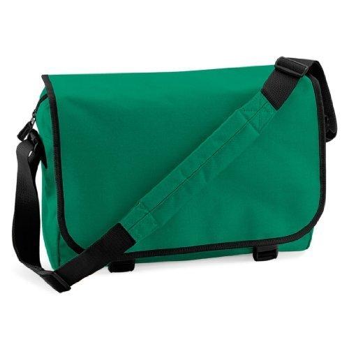 Shirtstown Messenger Bag, Umhängetasche, Schultertasche, Retro, Tasche, Farbe weiss kellygreen