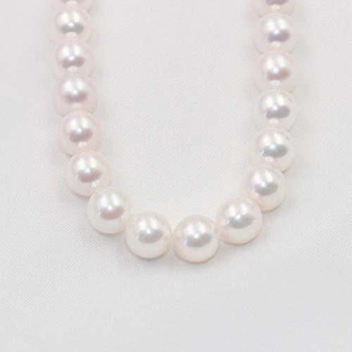 Qpw perlenkette Akoya-Perle 7,5-8mm Meer Meerwasser Runde Perle Halskette