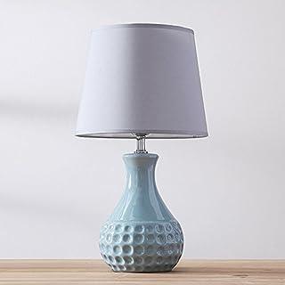 Nordic minimalist tiffney blue table lamp romantic ceramic bedside lamp Modern minimalist desk lamp for living room bedroom study, φ20cm H47cm E27
