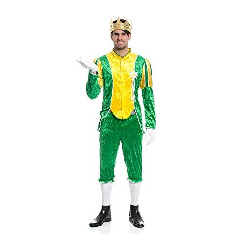 Kostümplanet® Frosch-König-Kostüm Herren Märchen Kostüm Froschkönig Prinz Größe 58 (Erwachsenen Märchen Prinz Kostüme)