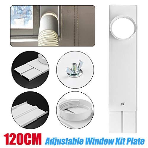EDQZ Klimaanlage Fensterabdichtung Kit, 120cm Abluftschlauch/Schlauchverbinder für Mobil Klimaanlagenfenster Kit Platte