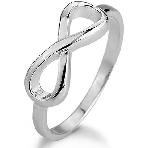 MunkiMix 925 Plata Anillo Ring Plata Infinito Infinity Símbolo 8 Anillo Ring Mujer