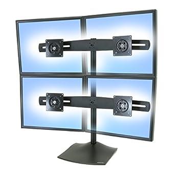Ergotron 33-324-200 DS100 Quad-Monitor Desk Stand - Black