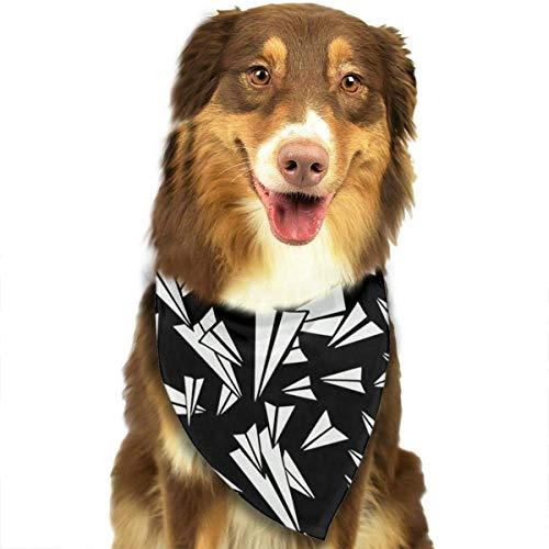 Wfispiy Paper Plane Fashion Pet Bandanas Dog Car Neck Scarf for Unisex Pet Boy Girls