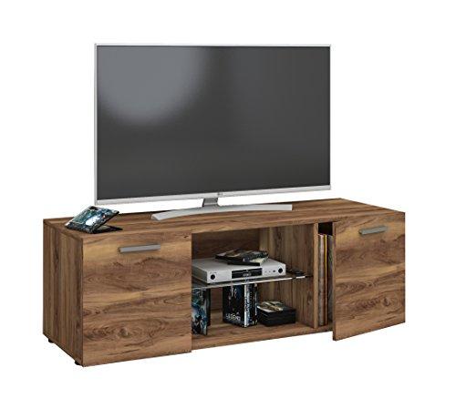 fernsehschrank holz VCM TV Lowboard Fernseh Schrank Möbel Tisch Holz Sideboard Medien Rack Bank Kern-nussbaum 40 x 115 x 36 cm
