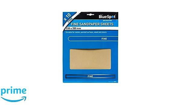 Blue Spot Tools 19851/feines Sandpapier Schwarz 230/x 280/mm