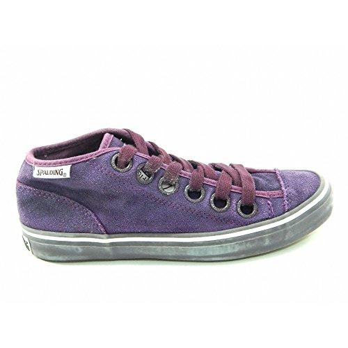 Spalding - Spalding scarpe vintage Net Suede Washed - Viola, 37