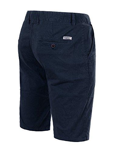 M430 FOREX Herren Bermuda Stoffhose kurze Hose Cargo Shorts Clubwear Bermudas Dunkelblau