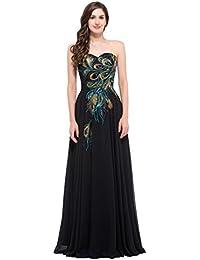 afe086d1c20f8 HE-dress Vestito da Donna Lunghezza Pavimento Senza Spalline Abito da Sera  Formale