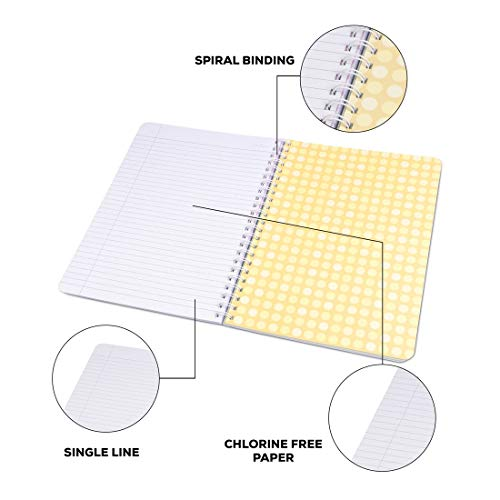 Classmate Soft Cover 6 Subject Spiral Binding Pocket book, Single Line, 300 Pages Image 7