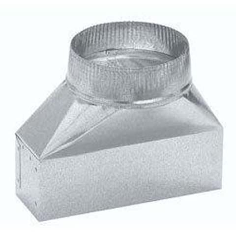 Broan 413 3-1/4 x 10 to 8 Round Duct Transition,