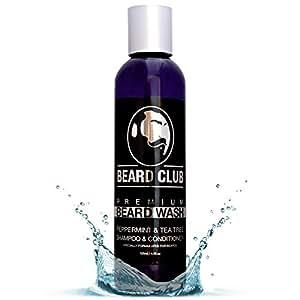 Shampoo e balsamo Premium per barba | 125 ml | Beard Club | Lavaggio barba al 100% naturale & biologico