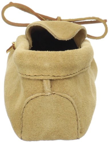 Minnetonka Mens Leather Laced Softsole Moccasin Beige (Tan)