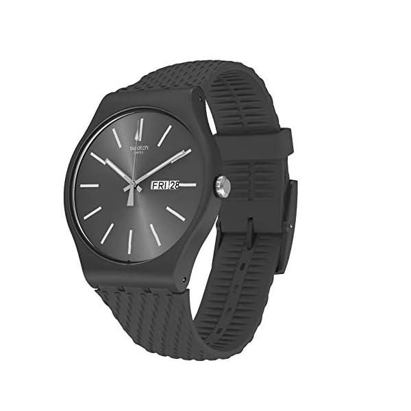 Swatch Reloj Analógico para Hombre de Cuarzo con Correa en Silicona SUOM708