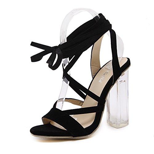 ZYUSHIZ High-Heel Frau Sandalen Hausschuhe der minimalistischen Stil 35EU
