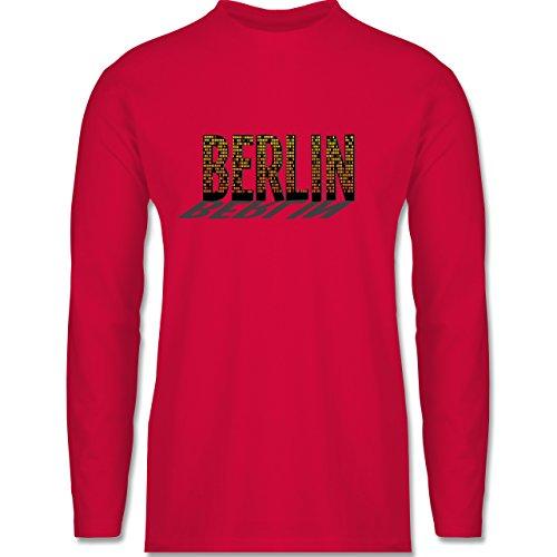 Städte - Berlin - Longsleeve / langärmeliges T-Shirt für Herren Rot
