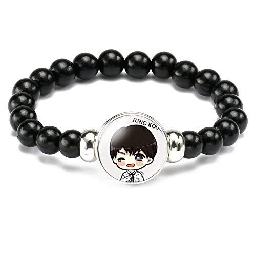 ALTcompluser Kpop BTS Armband, Suga V Jin Jimin Jungkook J-Hope RM Armbänder Partyzubehör für BTS Army(Jungkook) (Iphone Schmuck)