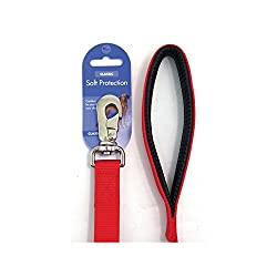 (Classic) Soft Protection Dog Lead 40 x 1inch (Red) by Rosewood