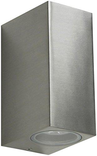 Ranex 5000.465 LED Wand Außenleuchte mit up&down light 2x GU10 [3 Watt ersetzt 20 Watt], 2x 190 Lumen, 2x 110° Abstrahlwinkel, warm weiß
