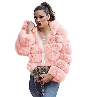 AIHOME Damen Pelz Mantel Elegant Lang Warm Fellmantel Winter Fur Coat Jacke Kunstpelz Mantel Jacke Bluse für Frauen Winter