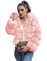 AIHOME Abrigo de Piel Mujer Elegante Largo cálido Abrigo Winter Fur Coat Abrigo Chaqueta Piel sintética Chaqueta Blusa De Pelo para…