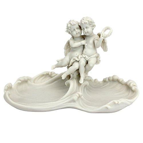 Marmor Parfüm (Design Toscano Dekoratives Schälchen für Kosmetiktisch mit Versailles-Engeln)