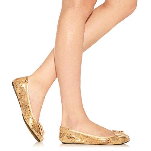 Cocorose London Scarpe Pieghevoli - Buckingham Scarpe da Ballet Donna Beige