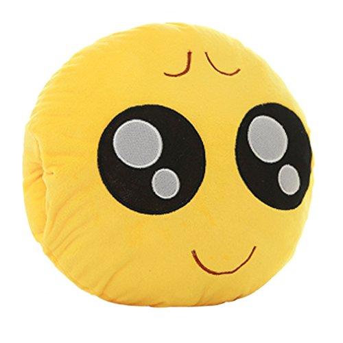 Tonsee Gelbe Runde weiche Emoji Smiley Emoticon gefüllte Plüsch Spielzeug Puppe Händen wärmer Kissen Eingreifen Kissen,Beschwerdeverfahren