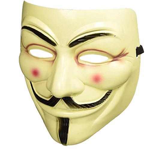 Máscaras Del Partido V De Vendetta Máscara De La Mascarilla De La Cara Llena De Guy Fawkes Anónimo Partido De La Mascarada De Halloween Para El Partido