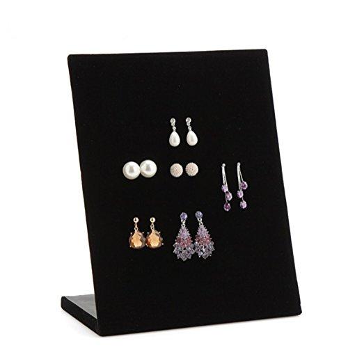 Chytaii expositor terciopelo para joyas soporte pendientes de exposición Soporte para joyas organizador almacenaje, multicolor