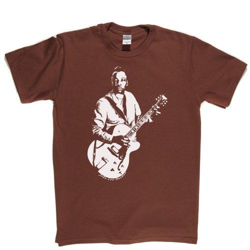 John Lee Hooker American Delta Blues Singer T-shirt Braun