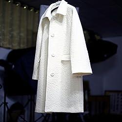 MO Fashion Autumn and Winter Coat Coat Coat Long Hair Girl by MO