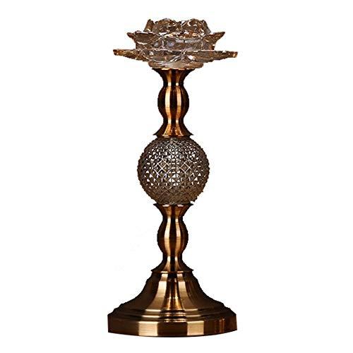 Bougeoirs Cristal Verre Lotus, Chandelier Dîner Aux Chandelles Mariage De Mariage Chandelier Décoration De Table
