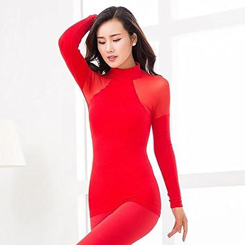 ZHANGYONG*Corpo femminile in singola T-shirt a tenuta di giovani studenti sexy cosmopolitian seamless net colore caldo, formante la base di autunno e inverno , pro capite basso , Codice Red