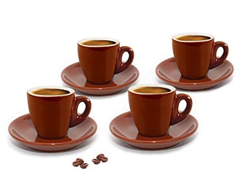 Cuisinox CUP-466BR Espresso-Tassen, 4 Stück, Braun